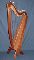 31 string celtic floor harp
